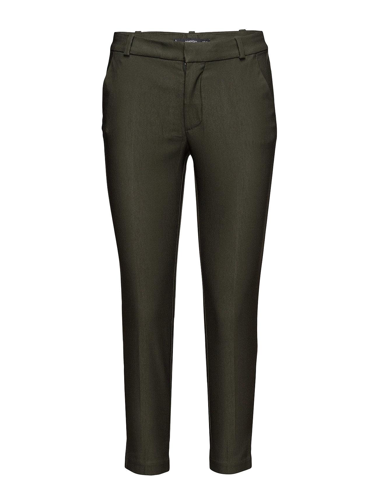 Crop Slim-Fit Trousers Mango Byxor