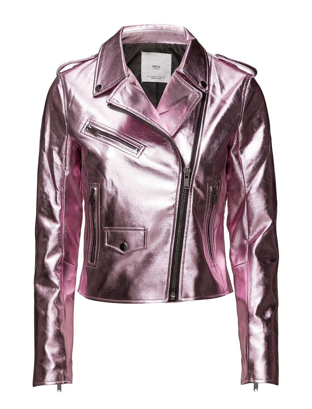Crystals Metallic Jacket Mango Jakker til Kvinder i Lyserød