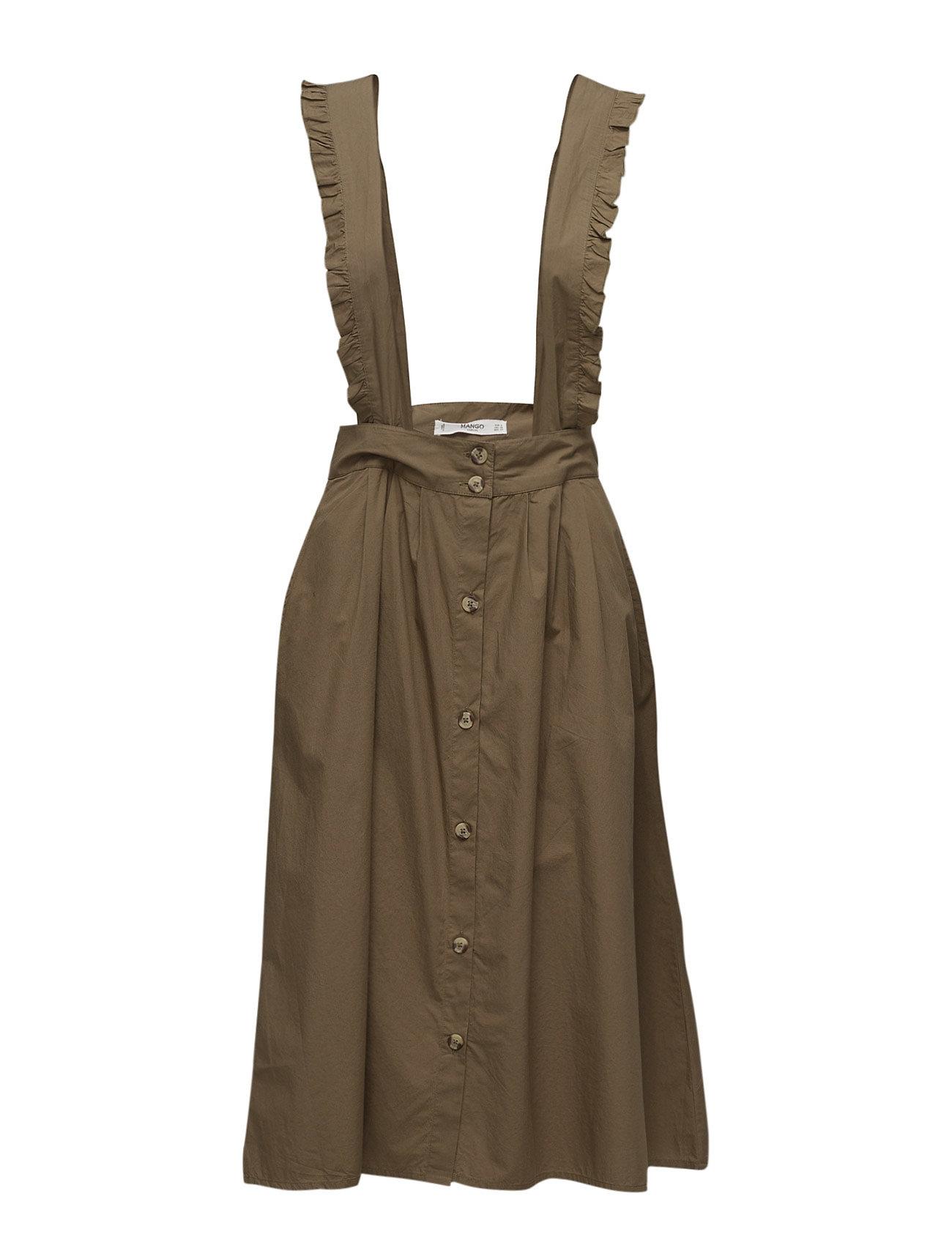 Cotton Dungarees Mango Korte kjoler til Damer i Beige - Khaki