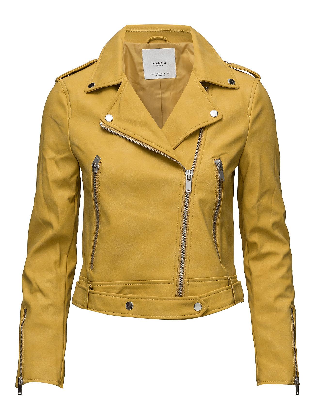 Zipped Biker Jacket Mango Jakker til Kvinder i