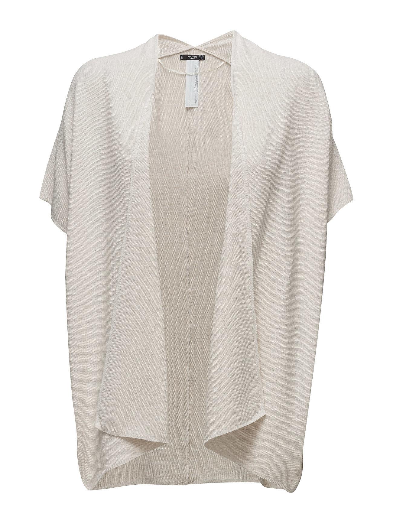 Cotton-Blend Cardigan Mango Cardigans til Damer i Light Beige