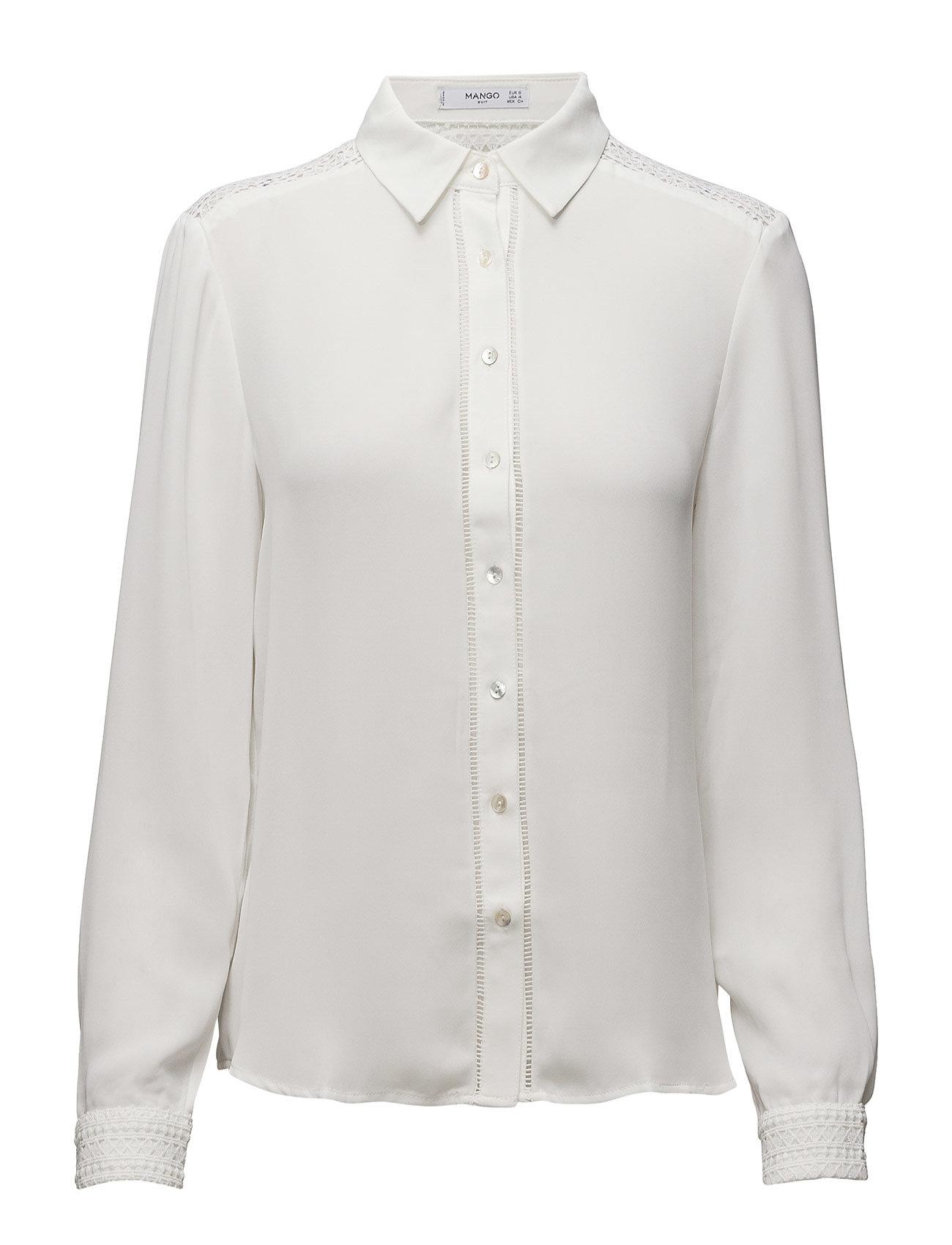 Flowy Shirt Mango Langærmede til Damer i
