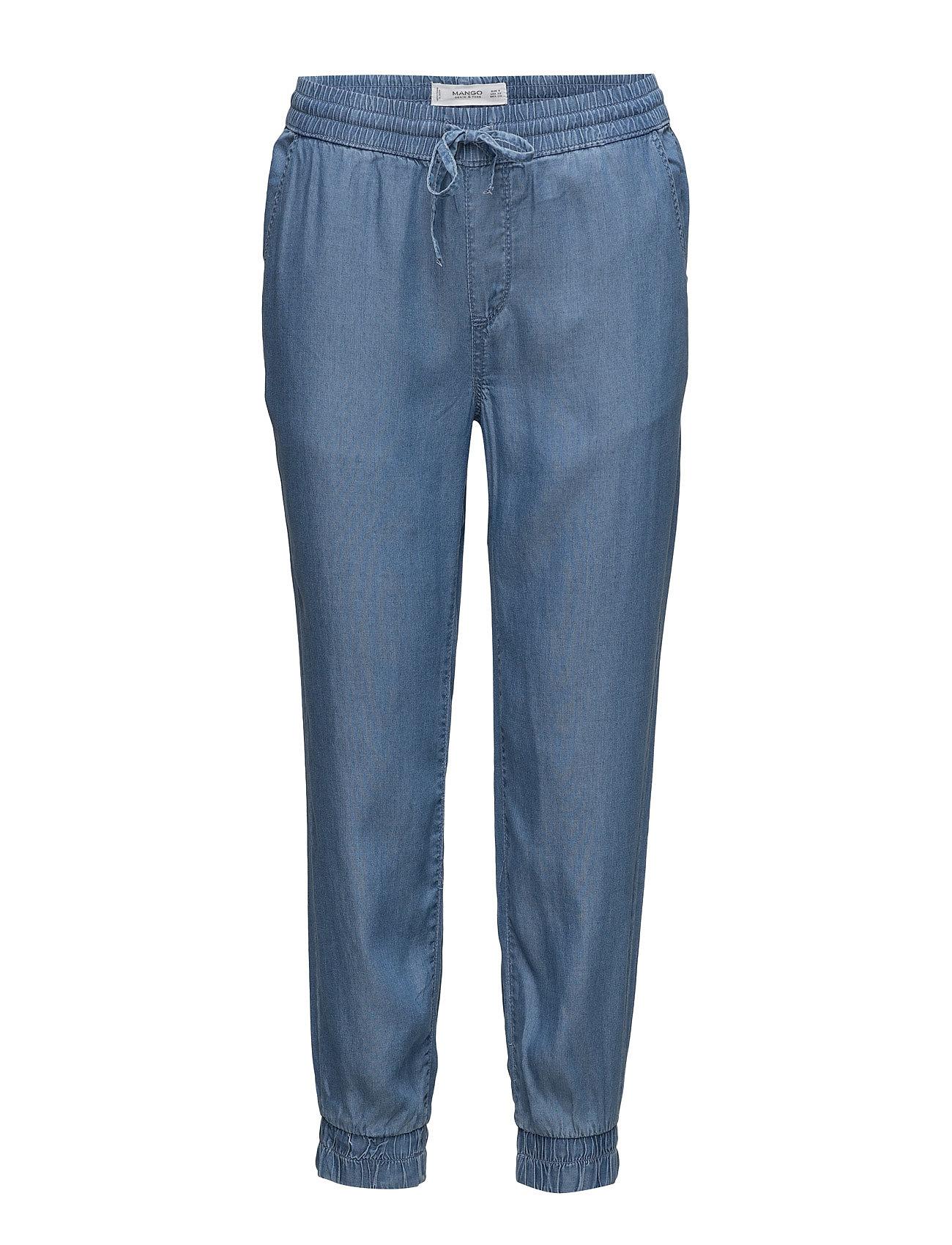 Denim Trousers Mango Casual bukser til Damer i