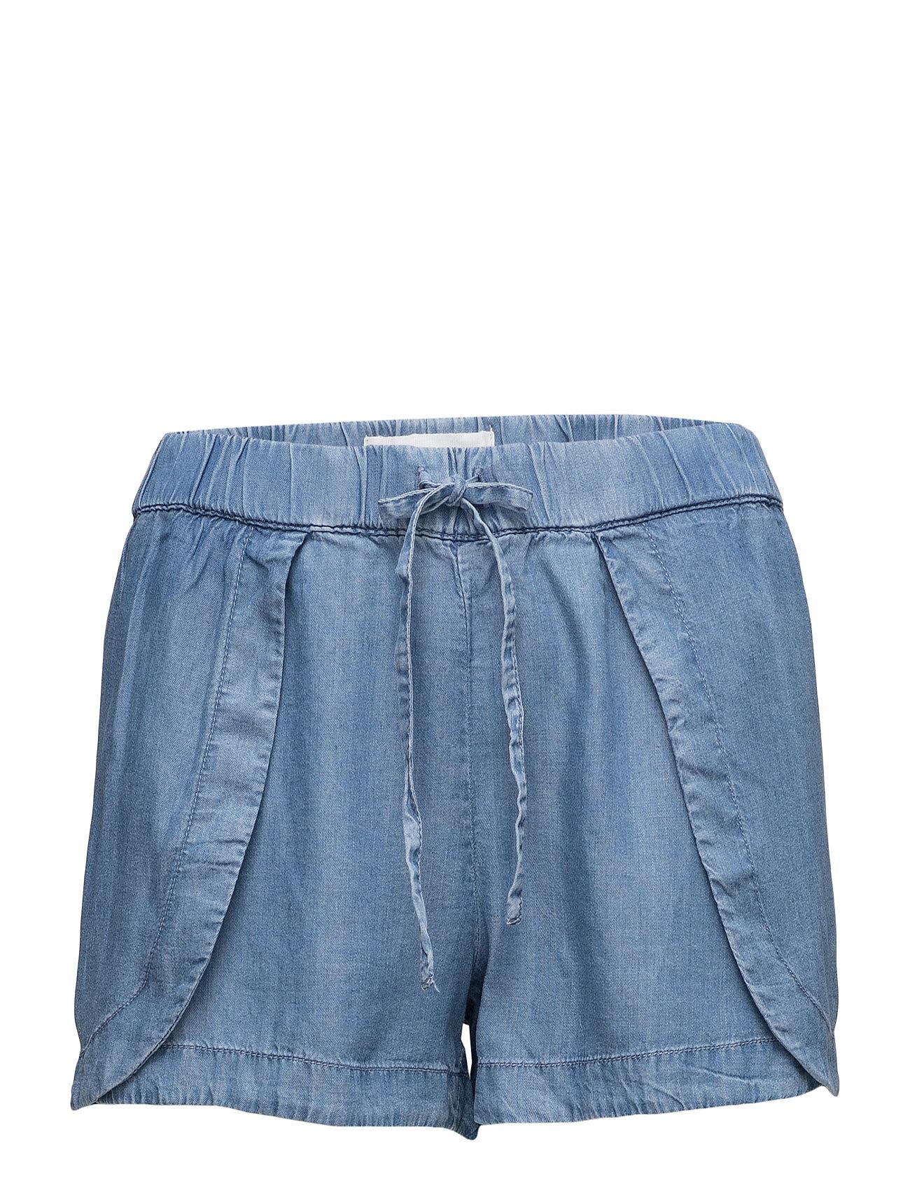Light Wash Denim Short Mango Shorts til Kvinder i Open Blå
