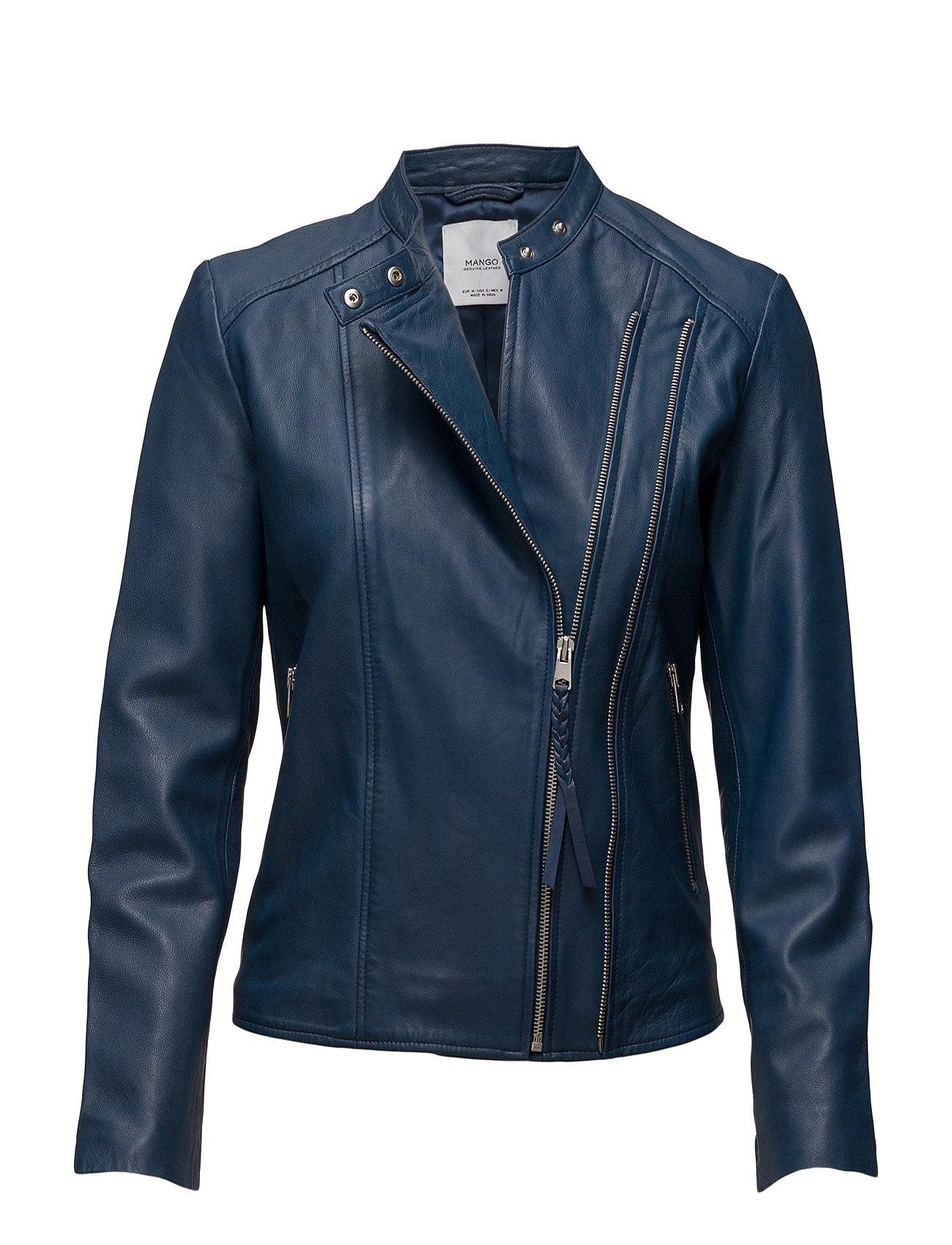 Zip Leather Jacket Mango Jackets