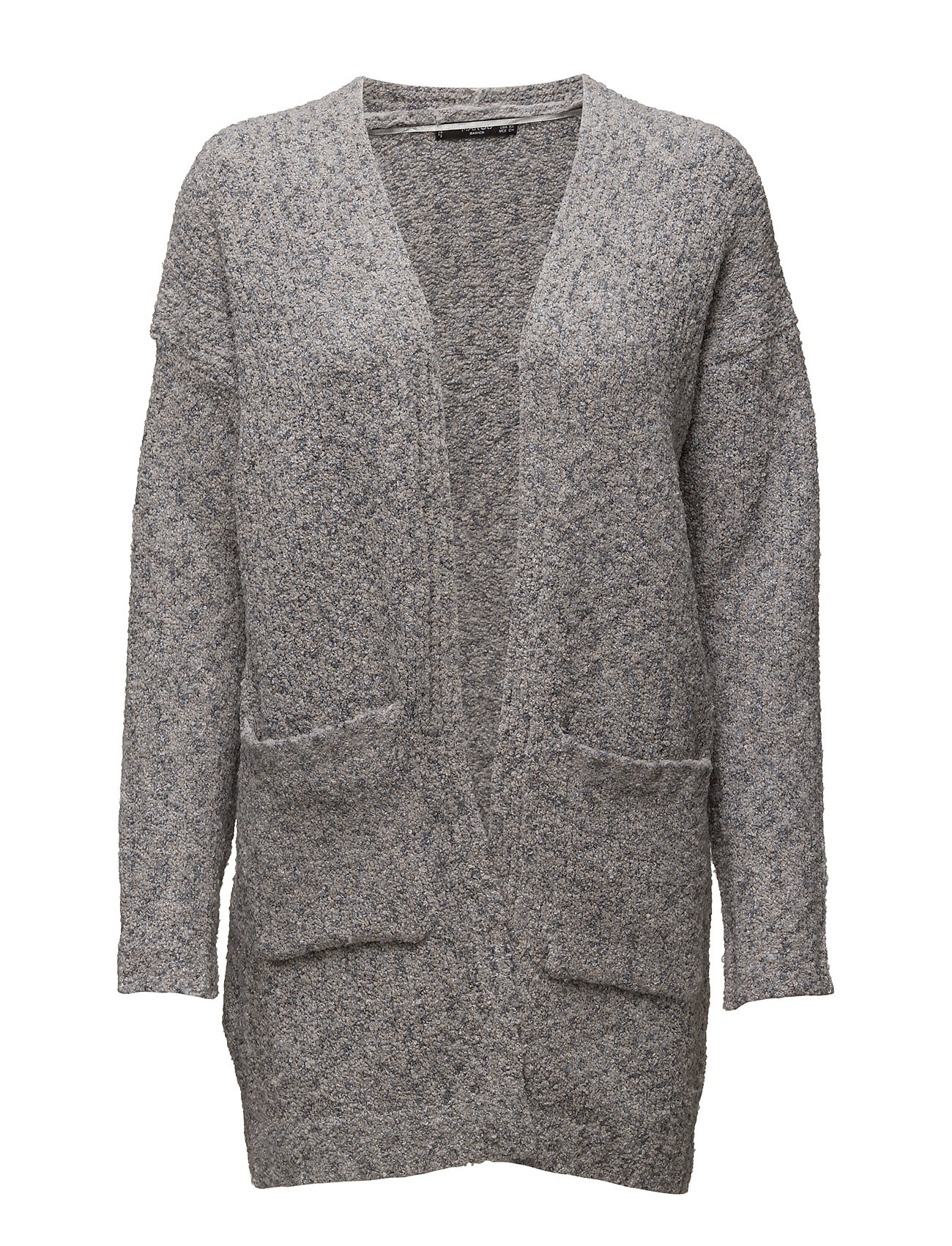 Chunky Knit Cardigan Mango Cardigans til Kvinder i Lt Pastel Grey