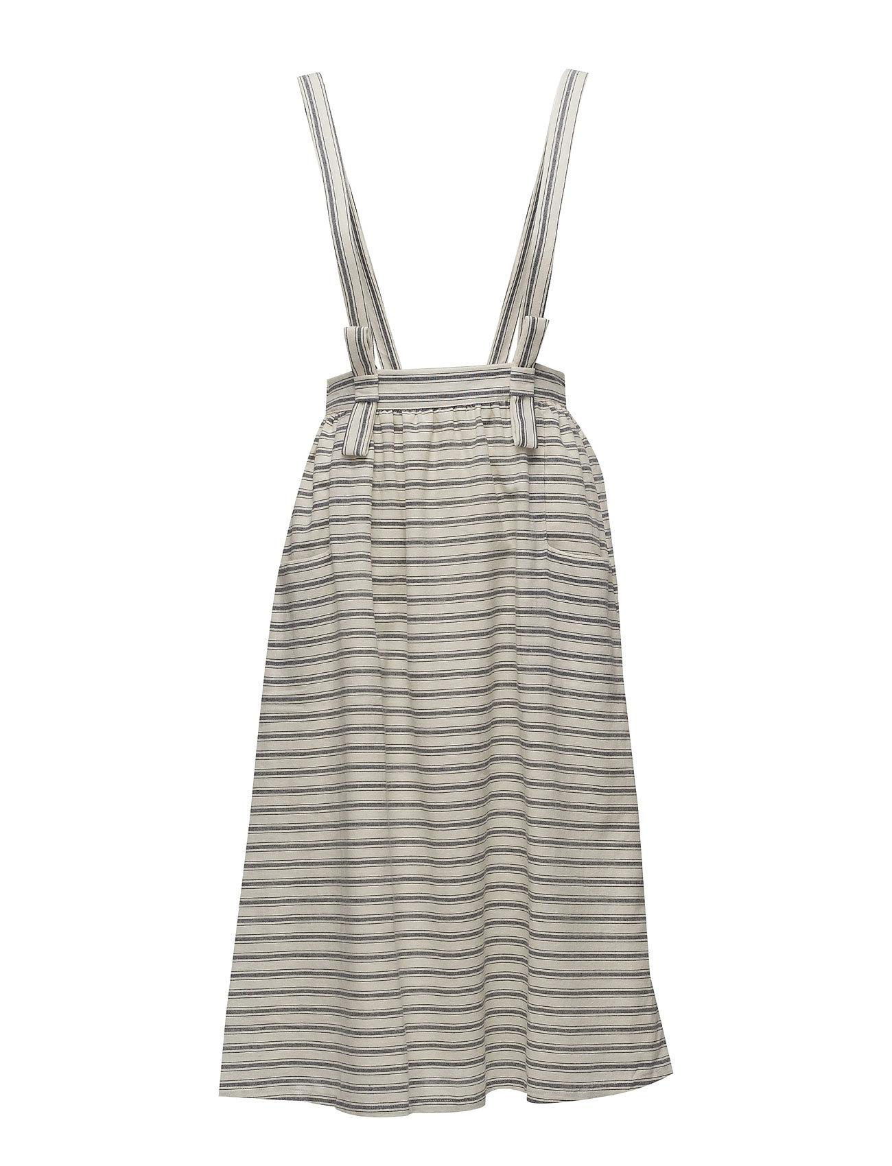 Striped Pinafore Dress Mango Kjoler til Kvinder i Navy blå