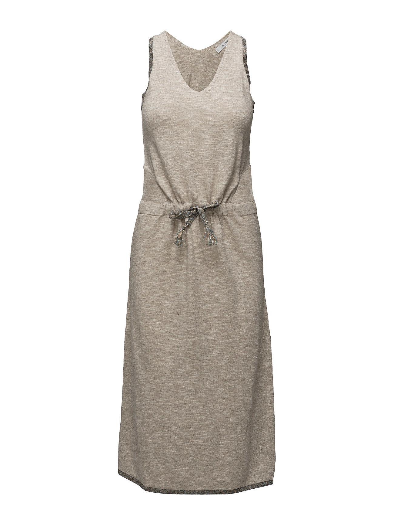 Side Slit Dress Mango Kjoler til Kvinder i Lt Pastel Brown