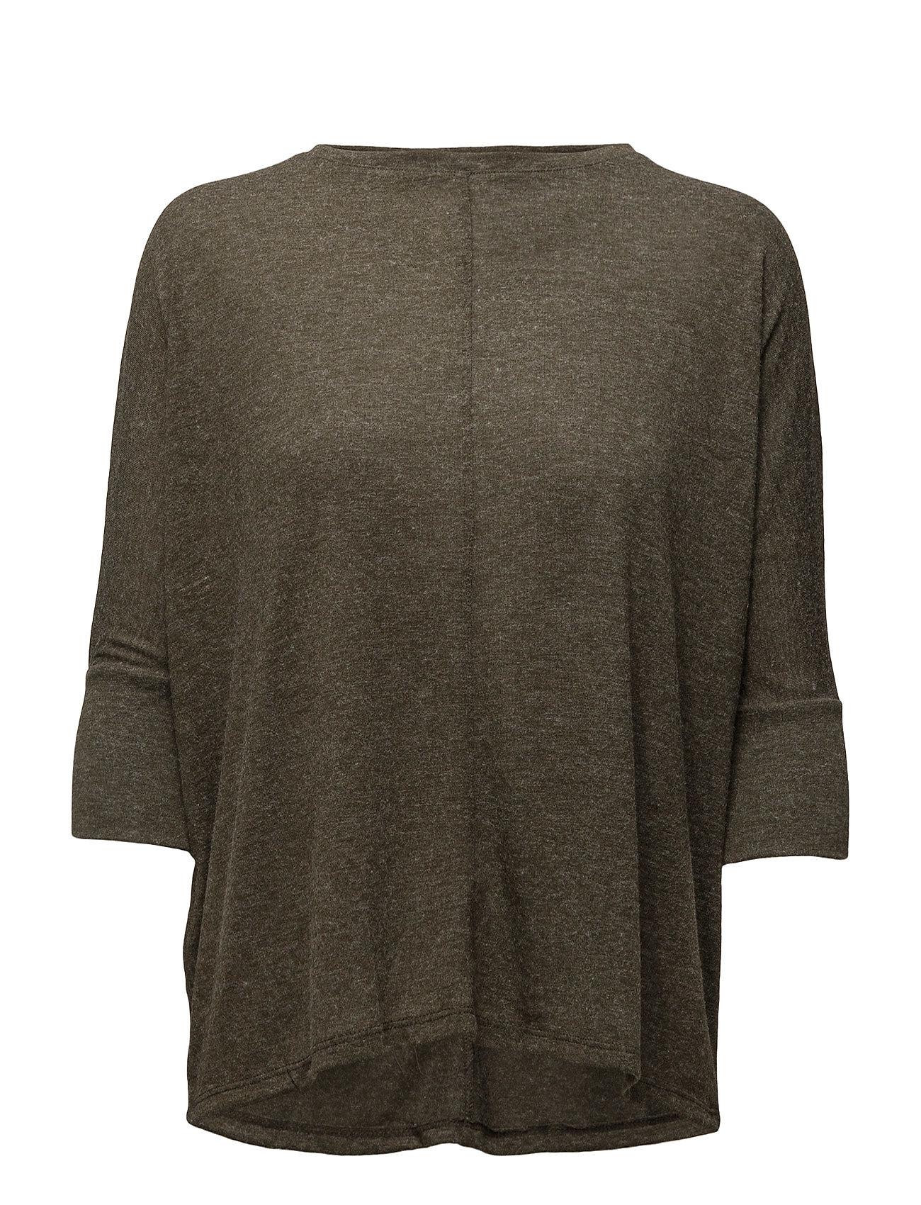 Flecked T-Shirt Mango Kortærmede til Kvinder i Mørkerød