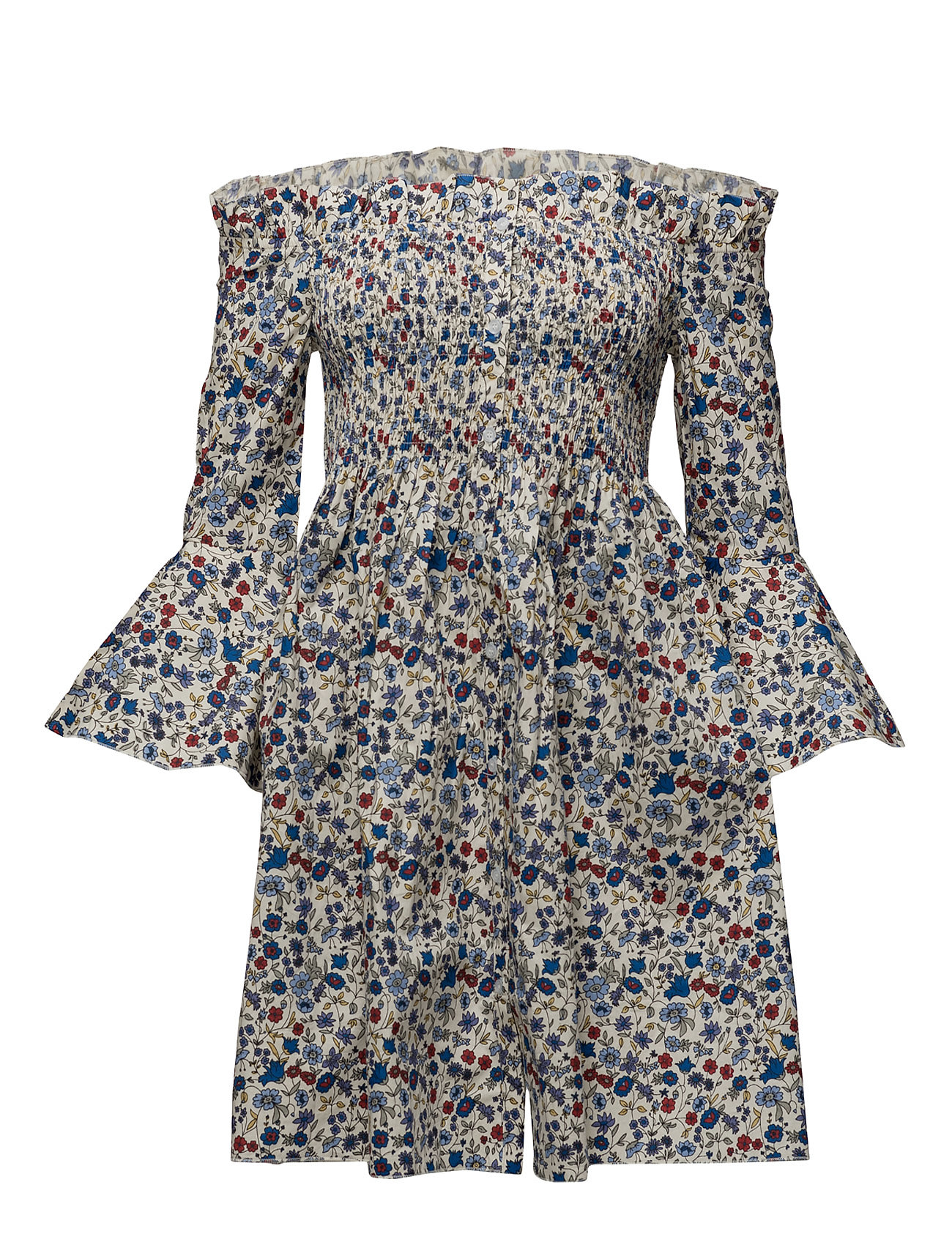 Ruched Detail Dress Mango Korte kjoler til Damer i Lt-Pastel blå