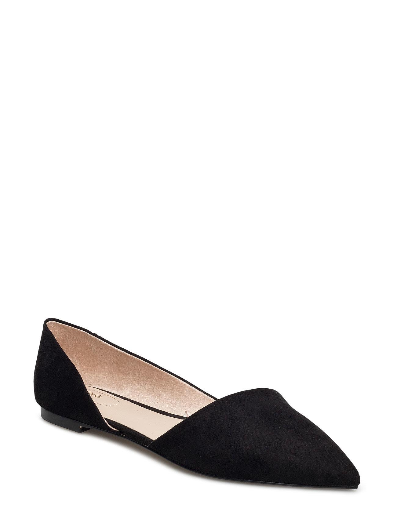 Pointed Toe Flat Shoes Mango Flade sko til Damer i Sort