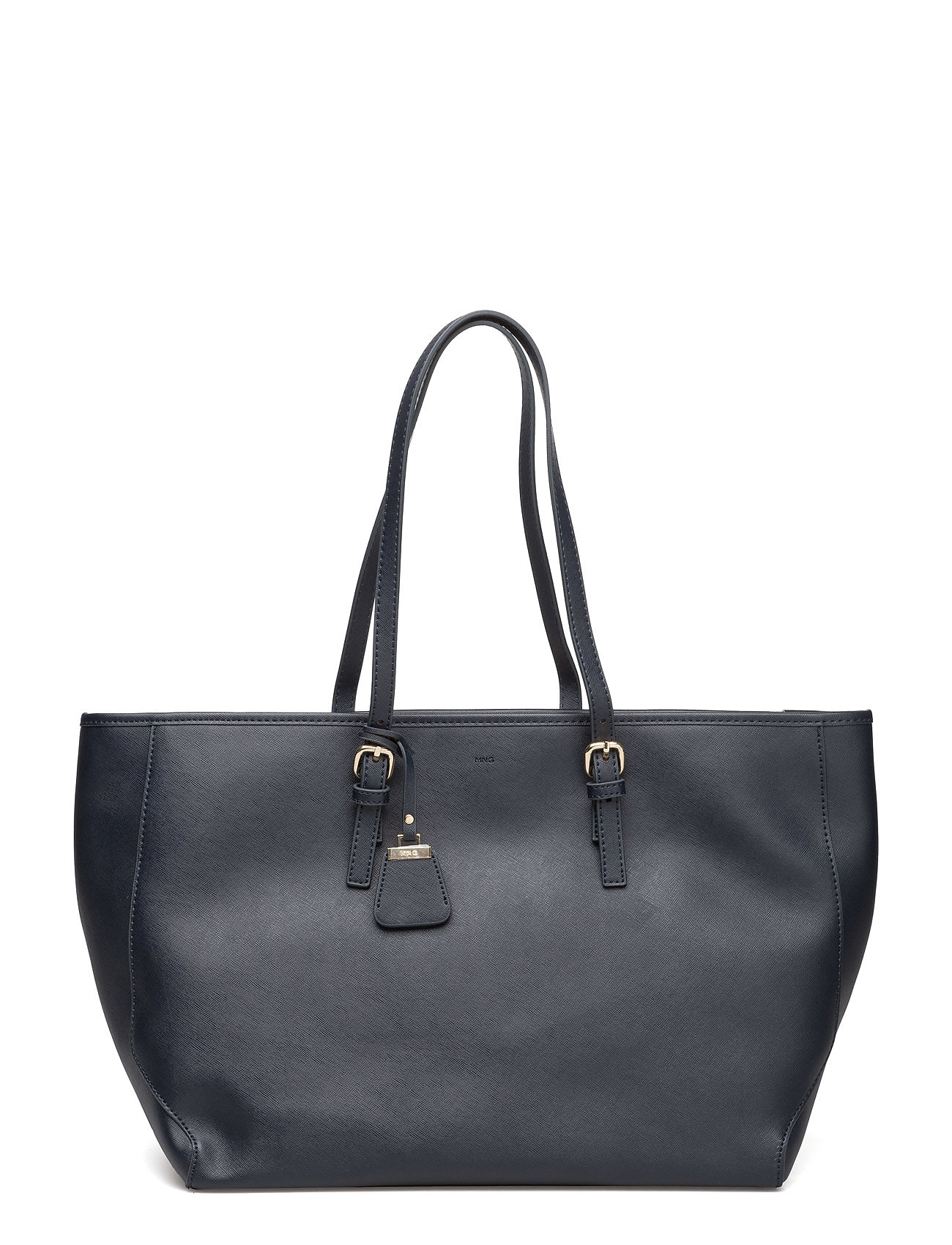 Saffiano-Effect Shopper Bag Mango Shopper tasker til Kvinder i Navy blå