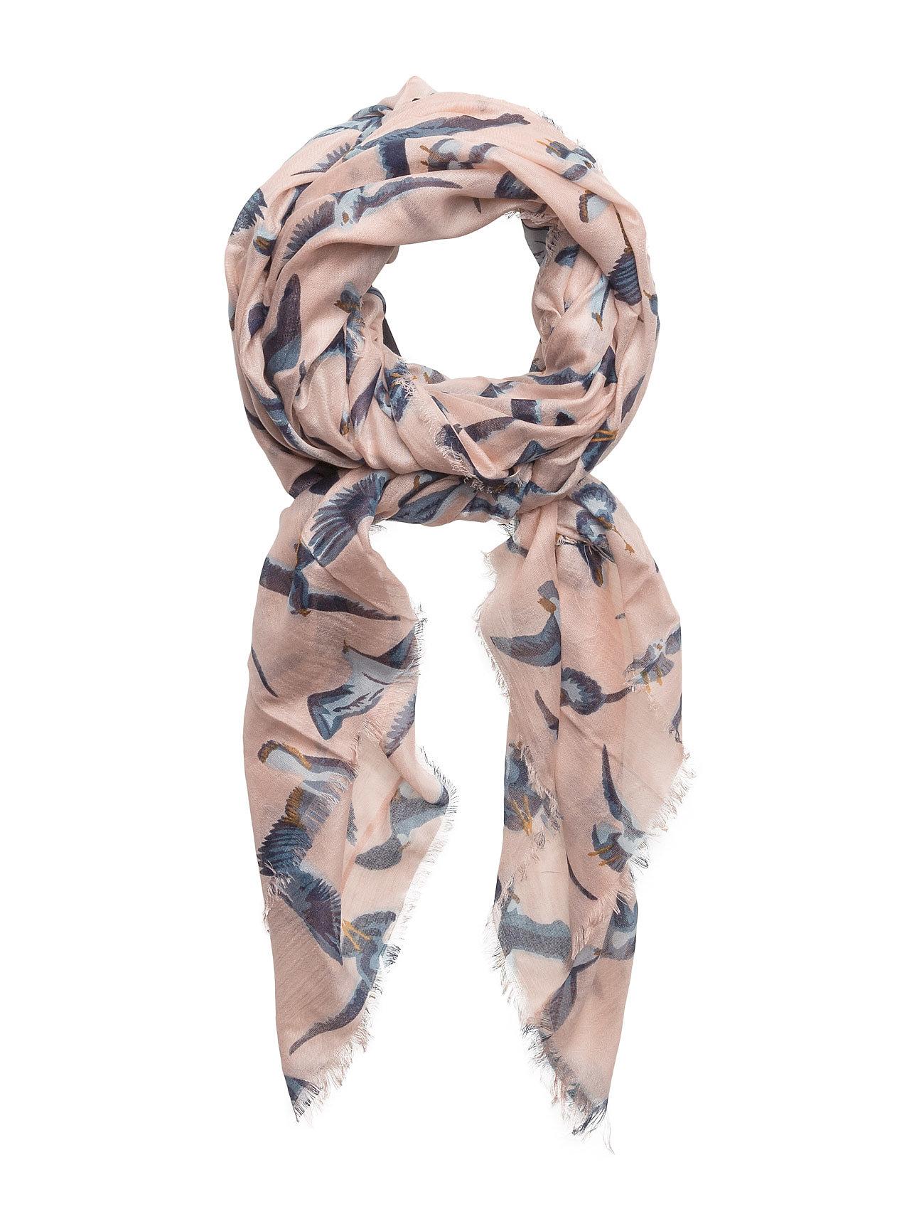 Bird-Print Scarf Mango Halstørklæder til Damer i Pink