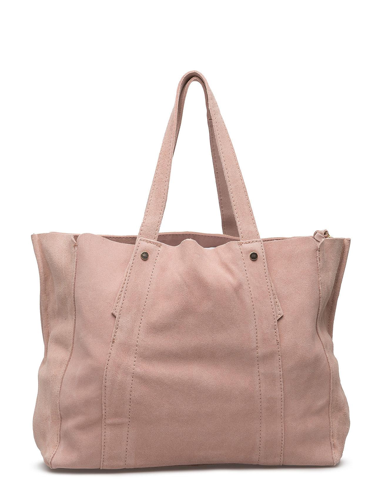 Leather Shopper Bag Mango Shopper tasker til Damer i Pink