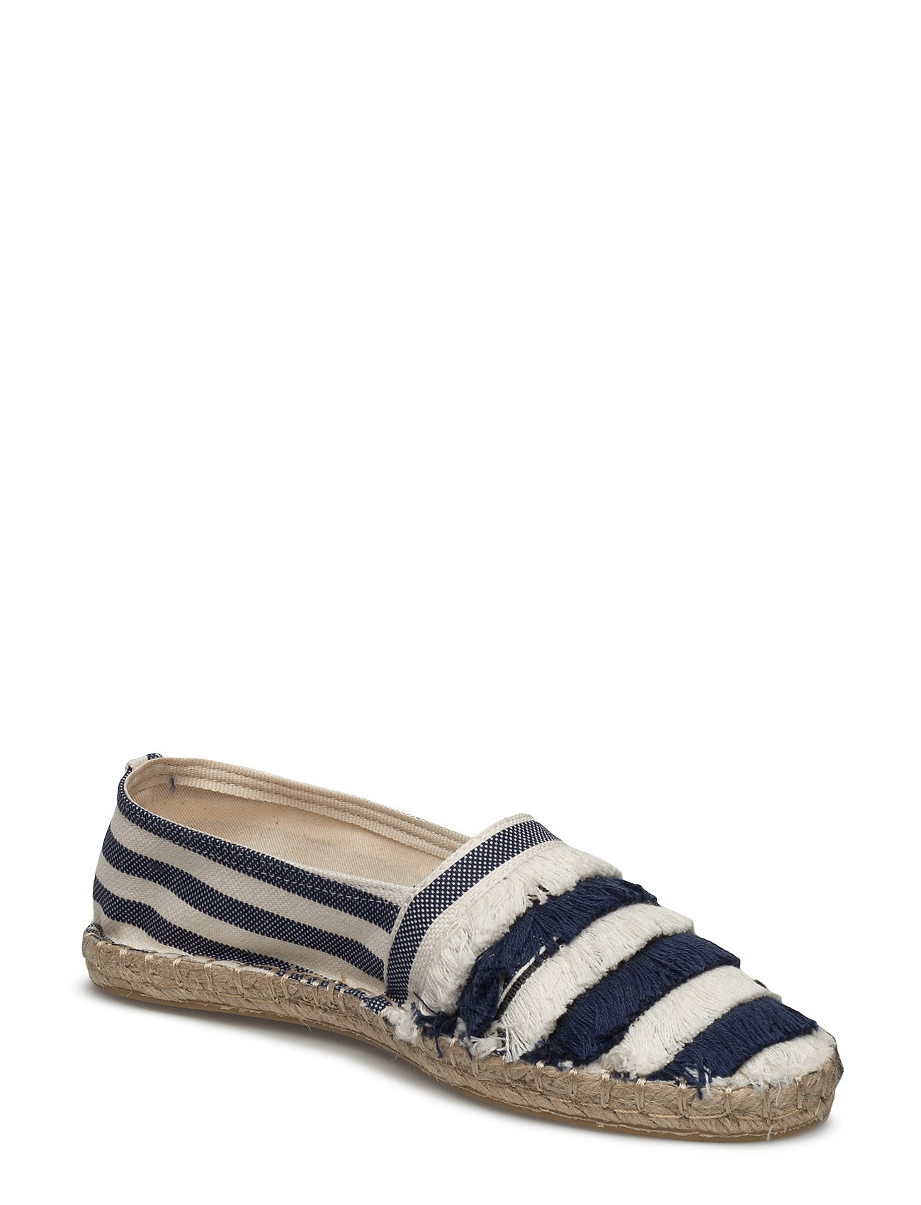 Striped Cotton Espadrilles Mango Sko til Kvinder i Navy blå