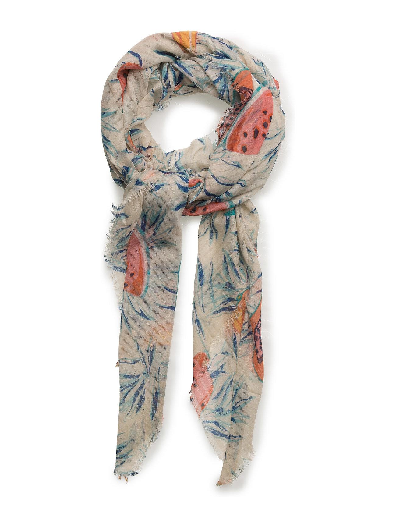 Printed Lightweight Scarf Mango Halstørklæder til Damer i Lt Pastel Grey