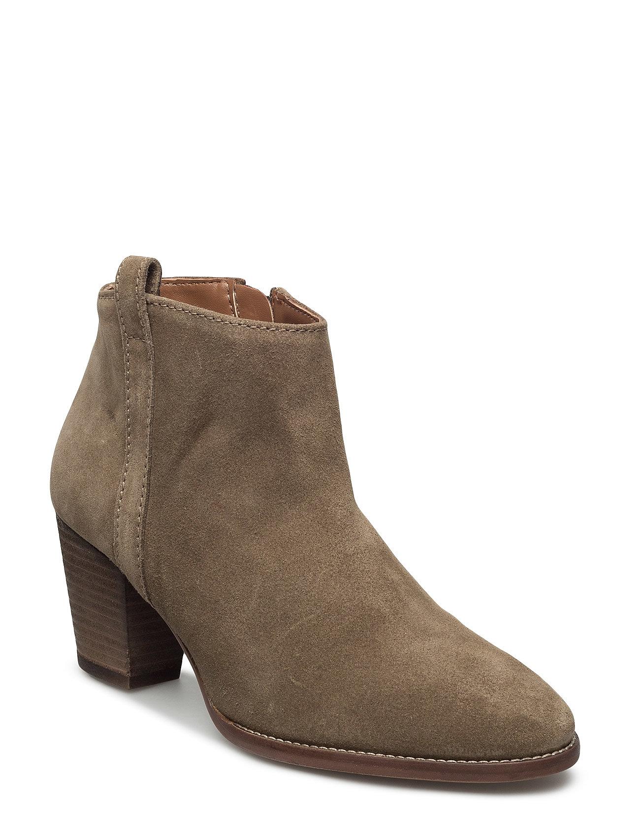 Leather Western Ankle Boots Mango Støvler til Damer i Mørkegrøn