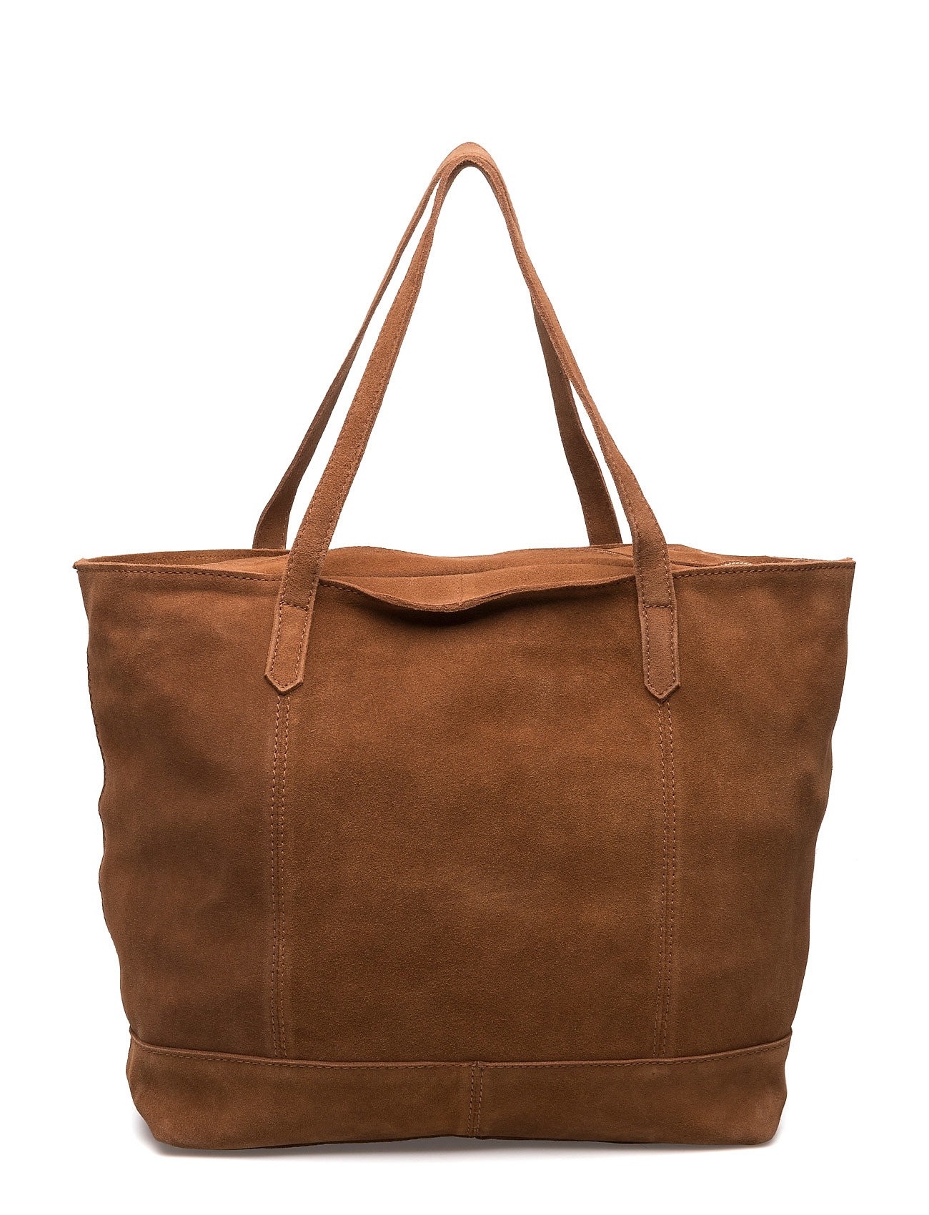 Leather Shopper Bag Mango Shopper tasker til Damer i Medium Brown