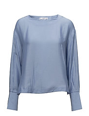 Side snaps blouse - LT-PASTEL BLUE