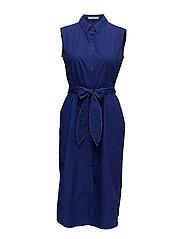 Belt shirt dress - MEDIUM BLUE