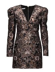Floral jacquard dress - PINK