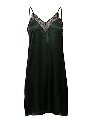 Lace camisole dress - DARK GREEN