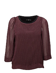 Double-layer blouse - DARK RED
