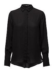 Concealed button shirt - BLACK