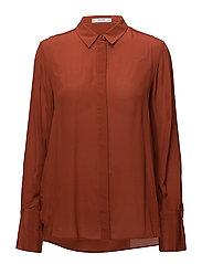 Silk shirt - DARK BROWN