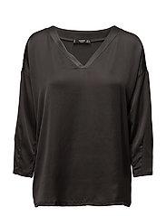 V-neckline blouse - CHARCOAL