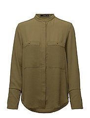 Patch pocketed shirt - DARK GREEN