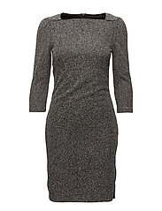 Flecked shift dress - BLACK