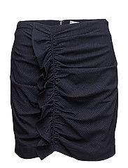 Striped pattern skirt - NAVY