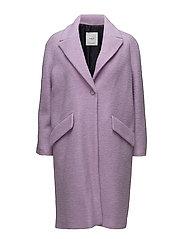 Lapels wool coat - LT-PASTEL PURPLE