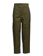 Asymmetric fastening trousers - BEIGE - KHAKI