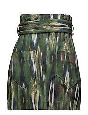 Knot printed skirt - BEIGE - KHAKI