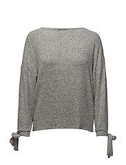 Decorative bows sweater - LT PASTEL GREY