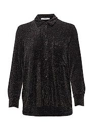 Metallic thread shirt - BLACK