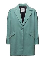 Texturised unstructured coat - TURQUOISE - AQUA
