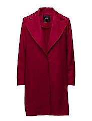 Lapels wool coat - MEDIUM RED