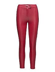 Glossed-effect leggings - DARK RED