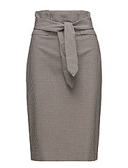 Micro houndstooth skirt - BROWN