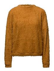 Textured mohair-blend sweater - MEDIUM YELLOW