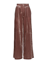 Flared velvet trousers - PINK