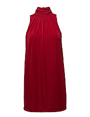 Bow neck dress - RED