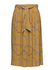 Mango - Chain Print Pleated Skirt