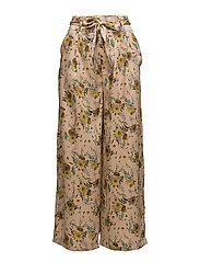 Floral palazzo trousers - MEDIUM YELLOW