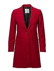 Lapels structured coat - RED