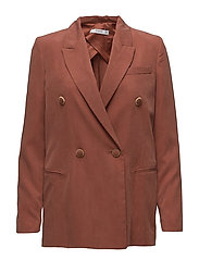 Contrast buttons blazer - RUST - COPPER