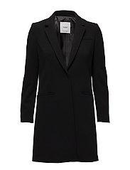 Masculine structured coat - BLACK